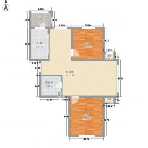 海富第五大道2室0厅1卫1厨79.13㎡户型图