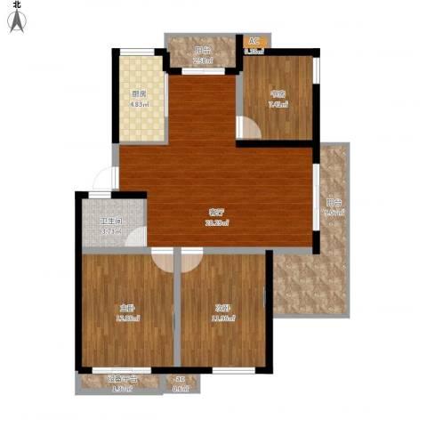 黄山怡园3室1厅1卫1厨120.00㎡户型图