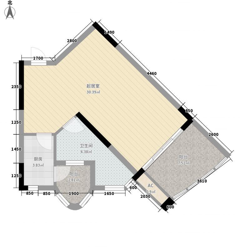 阳光海岸62.98㎡阳光海岸户型图A3户型1室1厅1卫1厨户型1室1厅1卫1厨