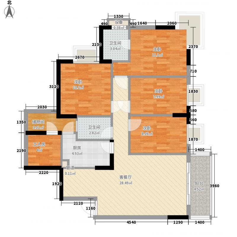 多伦多翠邸户型图3室2厅2卫1厨