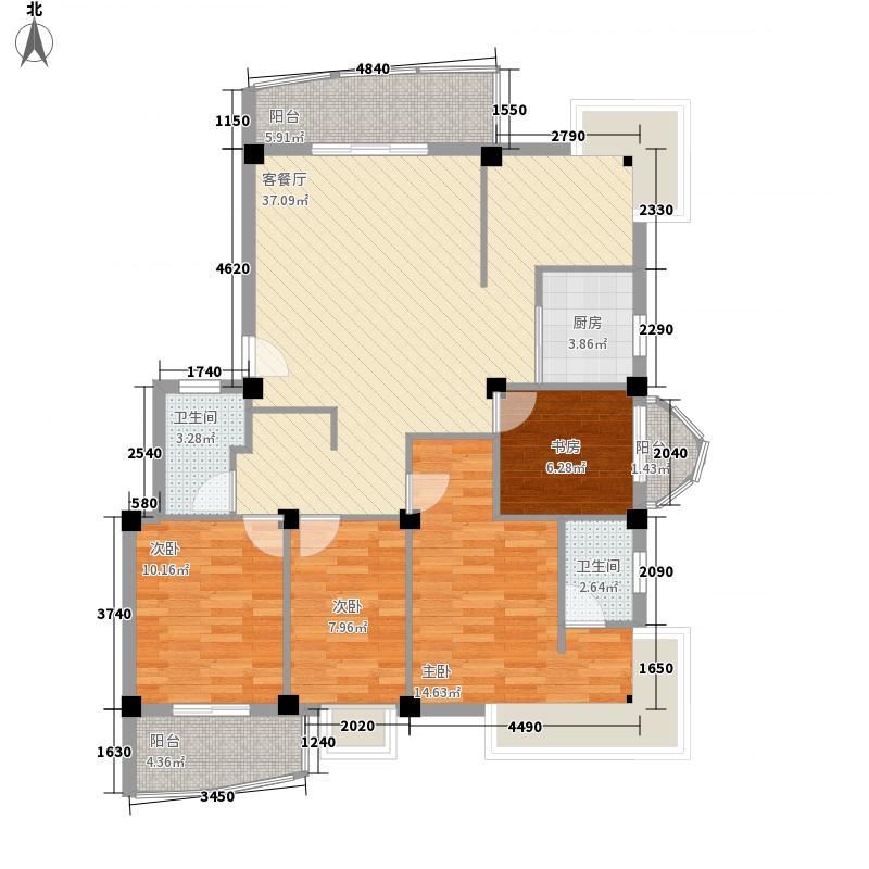 水岸华庭137.77㎡水岸华庭户型图4室2厅2卫户型10室