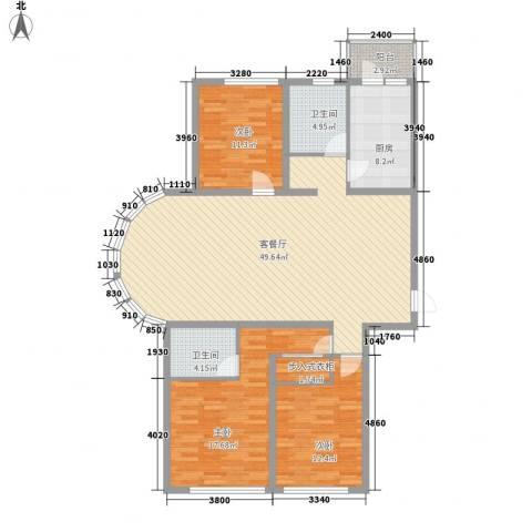 欧美亚世界阳光3室1厅2卫1厨112.99㎡户型图