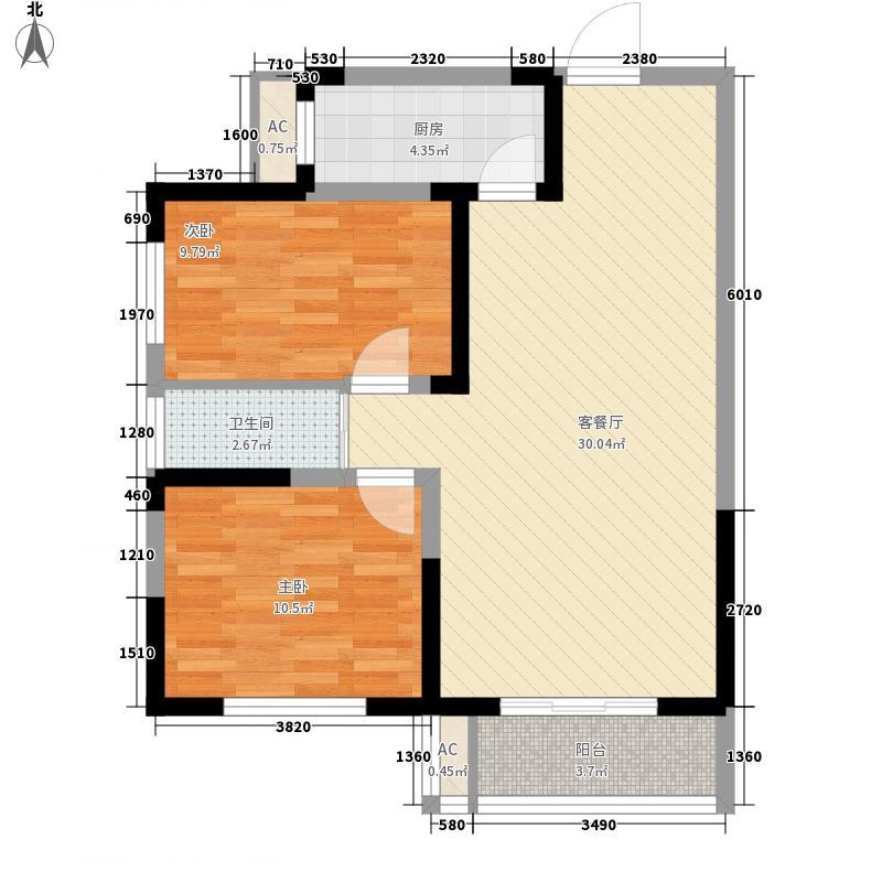 三和里8.00㎡F3户型2室2厅1卫1厨