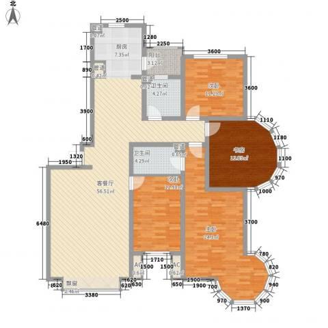 欧美亚世界阳光4室1厅2卫0厨131.44㎡户型图