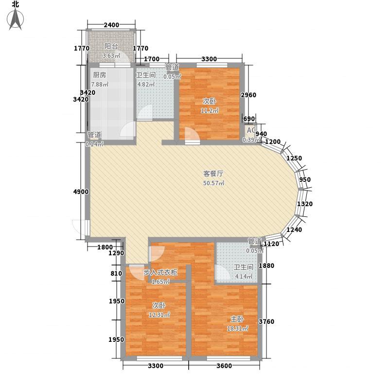 欧美亚世界阳光111.81㎡欧美亚世界阳光户型图J户型3室2厅2卫1厨户型3室2厅2卫1厨