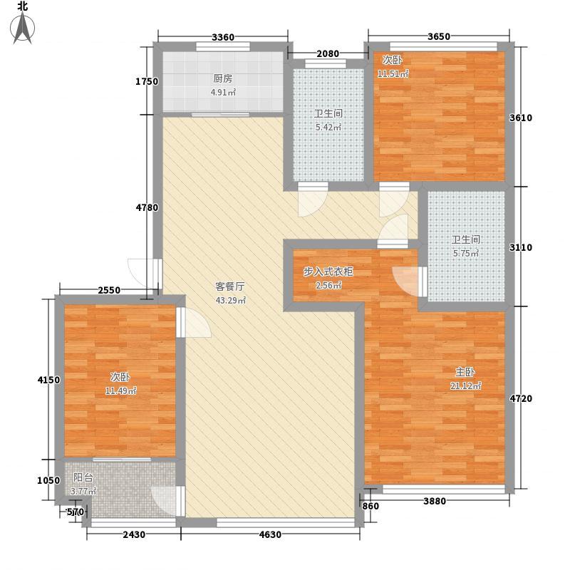 华安世纪樱园四期多层37#楼E3户型
