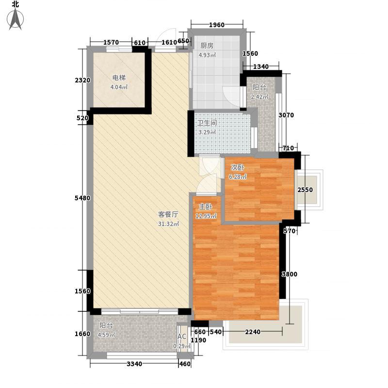 10+1商业广场住宅38.00㎡10+1商业大道户型2室