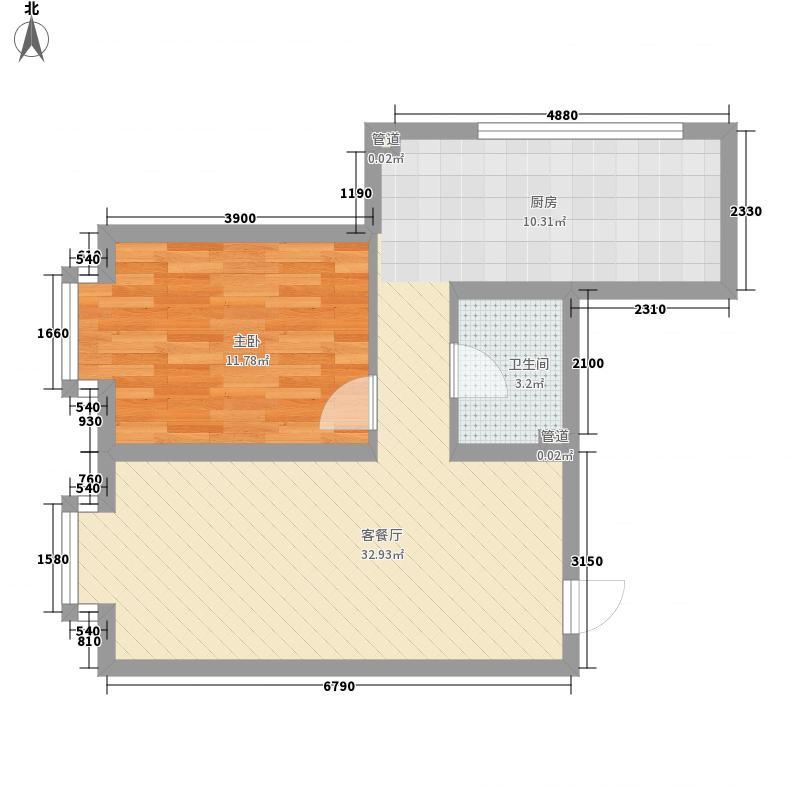 优越美域7.22㎡B2户型1室1厅1卫1厨