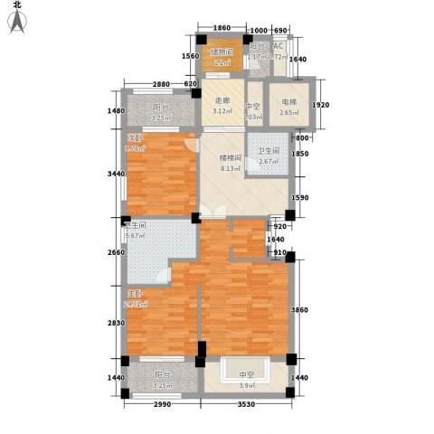 御景苑2室0厅2卫0厨214.00㎡户型图