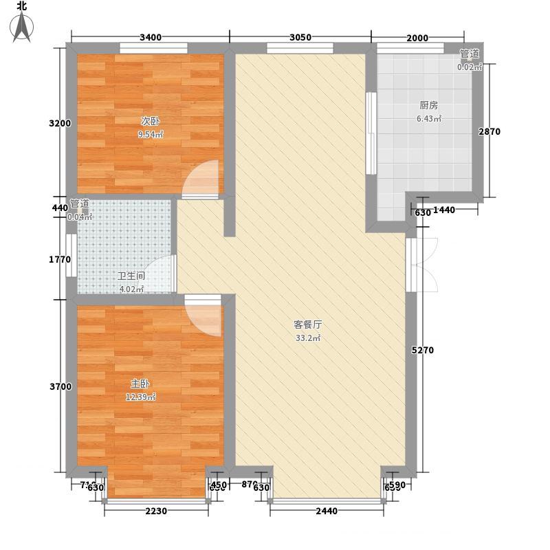 星河丽景94.72㎡星河丽景户型图1楼A3户型2室2厅1卫1厨户型2室2厅1卫1厨