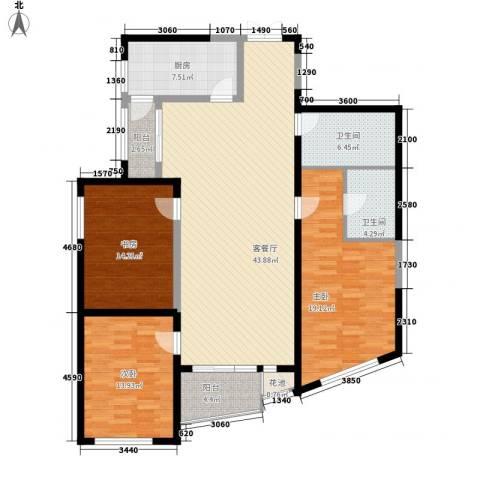 未来城3室1厅2卫1厨164.00㎡户型图