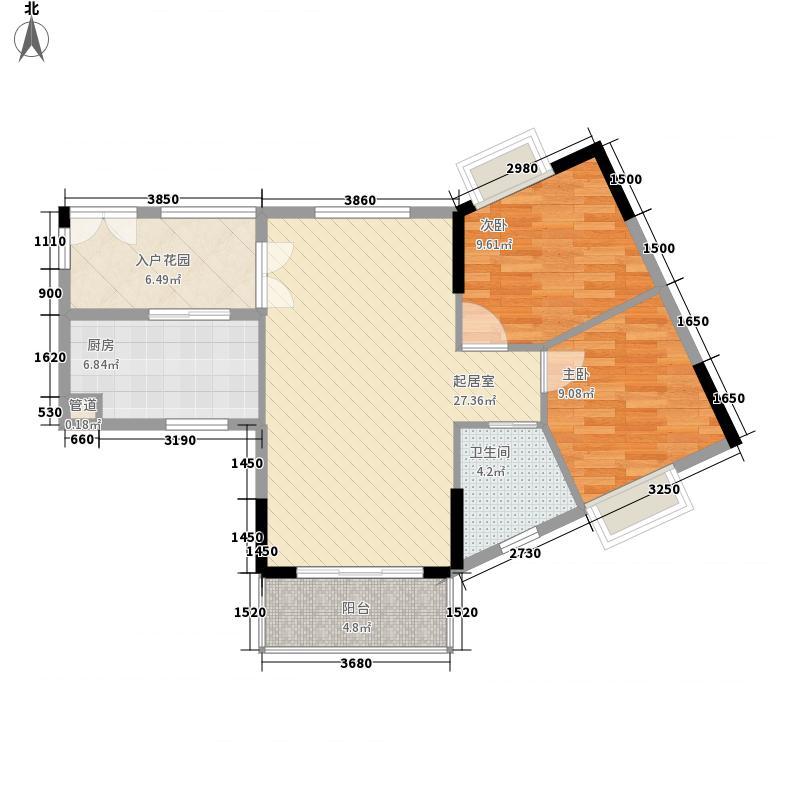 晓峰轩8.00㎡3栋04户型2室2厅1卫1厨