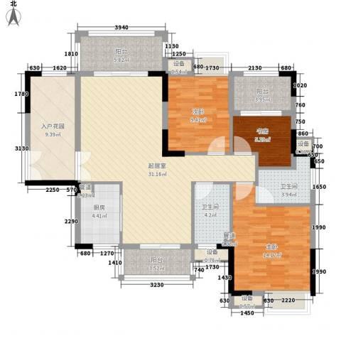 远洋启宸3室0厅2卫1厨142.00㎡户型图