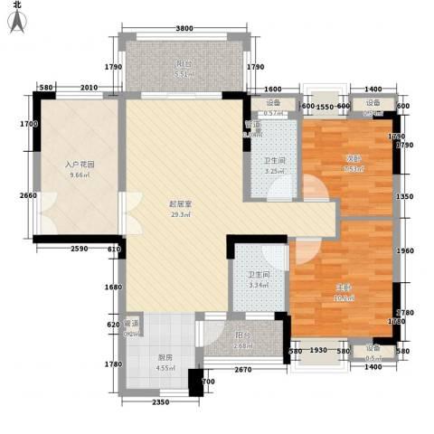 远洋启宸2室0厅2卫0厨107.00㎡户型图