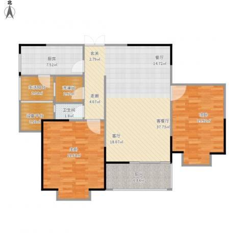 鹏欣一品漫城三期2室1厅1卫1厨132.00㎡户型图