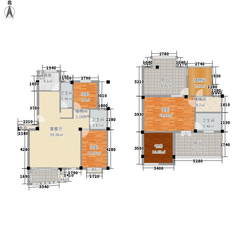 基业豪庭216.72㎡12#/13#A1型户型4室2厅3卫1厨
