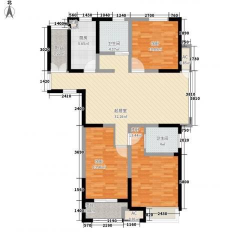 百草苑3室0厅2卫1厨135.00㎡户型图