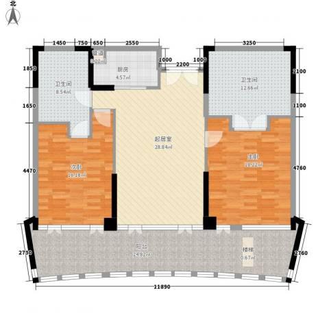 雅居乐清水湾星海传说2室0厅2卫1厨160.00㎡户型图