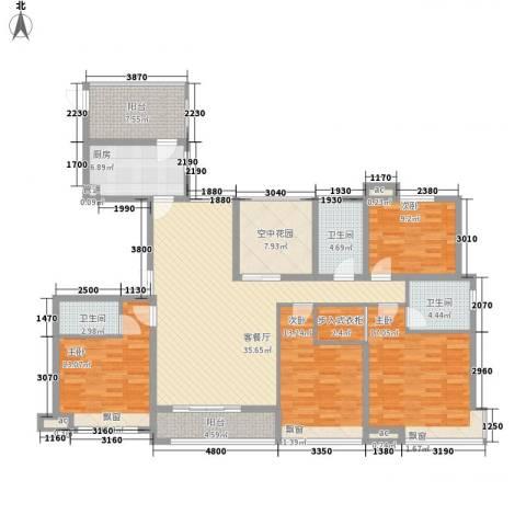 龙湖公馆4室1厅3卫1厨188.00㎡户型图