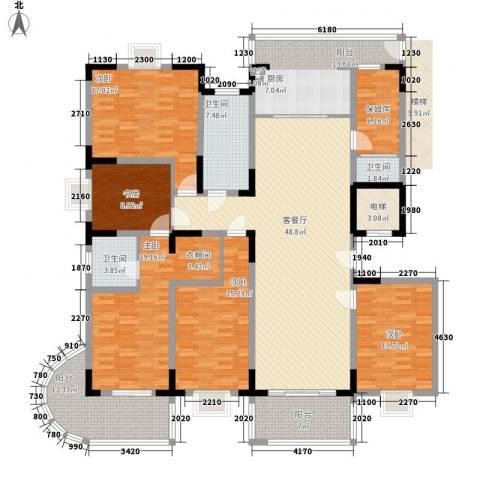 盛世华城5室1厅3卫0厨251.00㎡户型图
