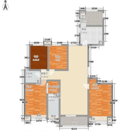 龙湖公馆4室1厅2卫1厨169.00㎡户型图