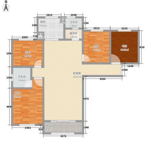 天鹅湖小镇东区4室0厅2卫1厨157.00㎡户型图