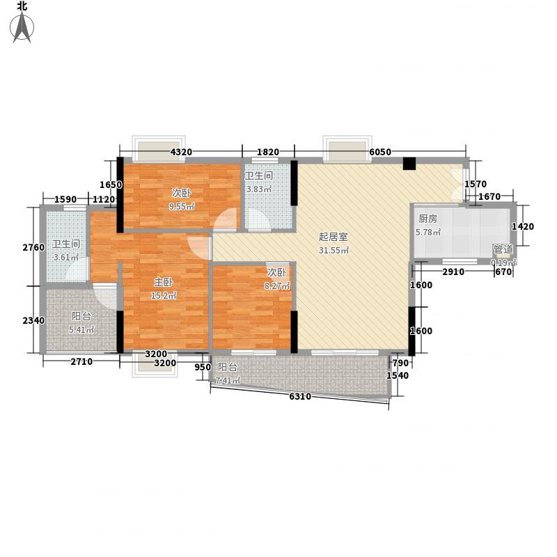 晓峰轩128.00㎡3栋03户型3室2厅2卫1厨