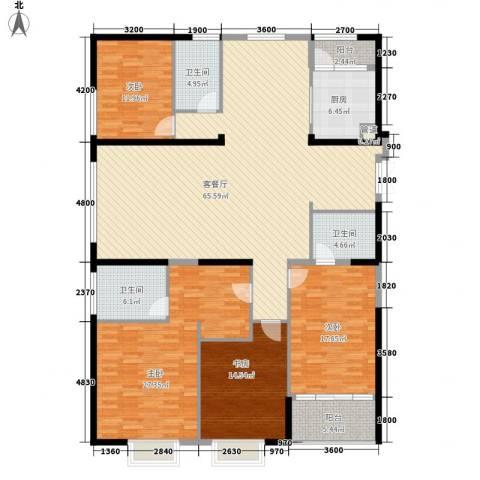置地广场4室1厅3卫1厨220.00㎡户型图