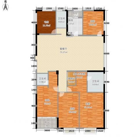 置地广场5室1厅3卫1厨268.00㎡户型图