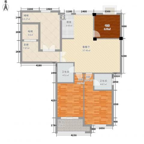 奥林803室1厅2卫0厨114.51㎡户型图