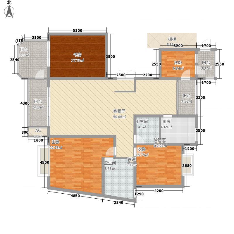 安宁庭院208.41㎡17号楼G3户型4室2厅2卫1厨