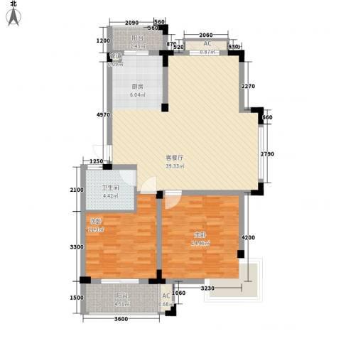 名门世家2室1厅1卫0厨111.00㎡户型图