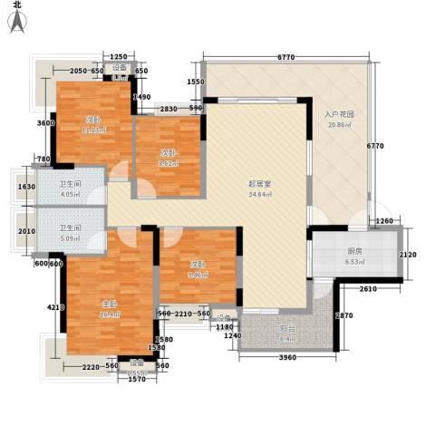 厚街东港城4室0厅2卫1厨130.00㎡户型图