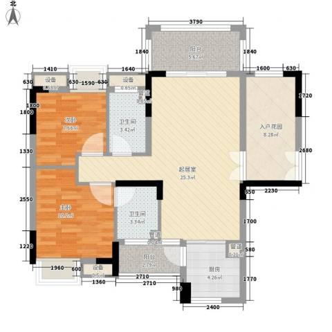 远洋启宸2室0厅2卫1厨107.00㎡户型图