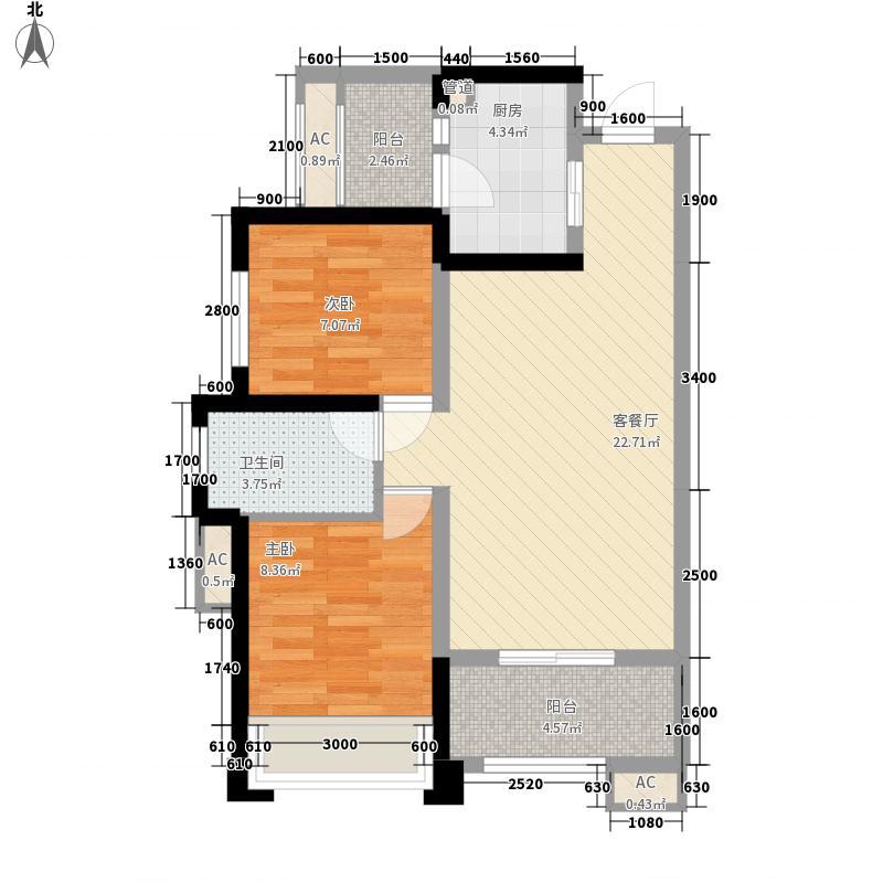 骑士郡锦程二期7栋标准层A4户型
