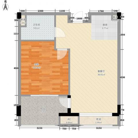 金融街巽寮湾别墅1室1厅1卫0厨84.00㎡户型图