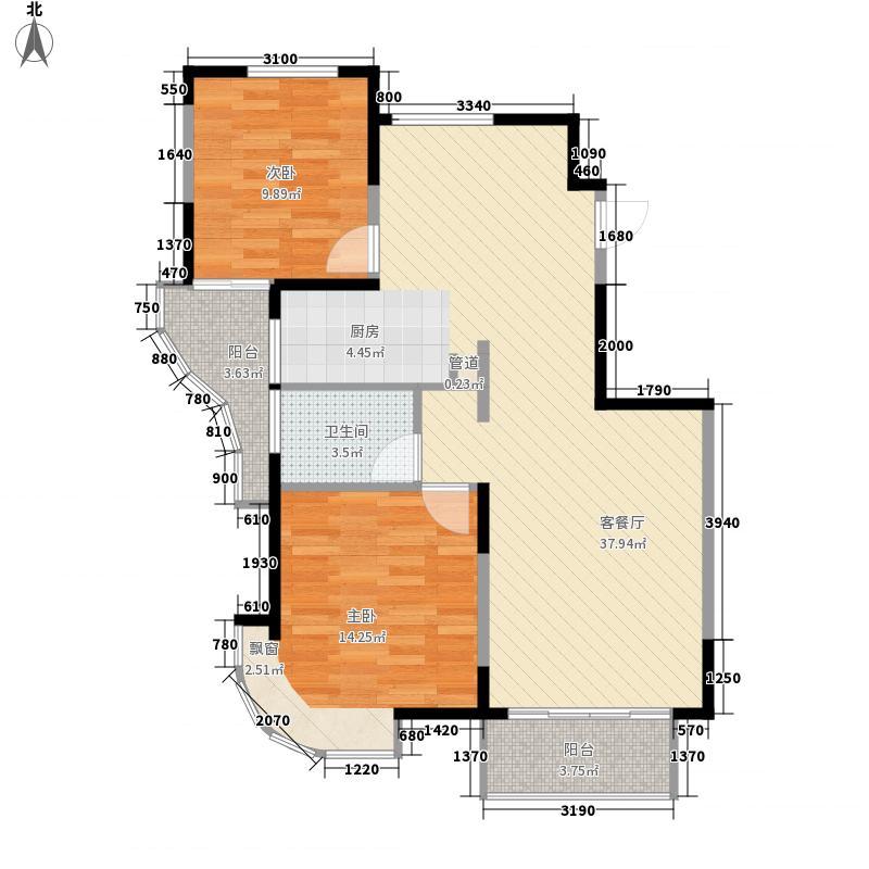 奥林花园103.00㎡奥林花园户型图温馨港湾2室2厅1卫1厨户型2室2厅1卫1厨