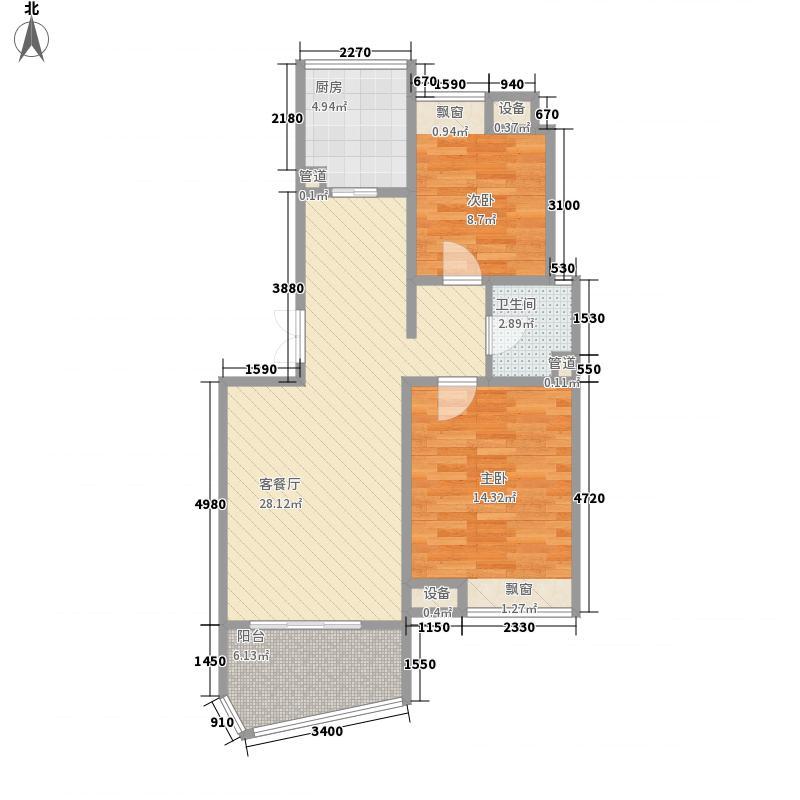 奥林花园100.00㎡奥林花园户型图100平方米2室2厅1卫户型2室2厅1卫