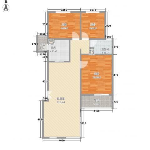 顺驰美兰3室0厅1卫1厨85.97㎡户型图