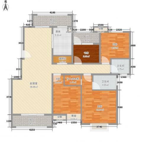 五洲幸福湾4室0厅2卫1厨145.00㎡户型图