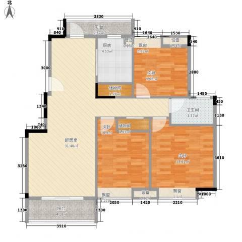 五洲幸福湾3室0厅1卫1厨116.00㎡户型图