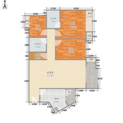 四季花园3室0厅2卫1厨178.00㎡户型图