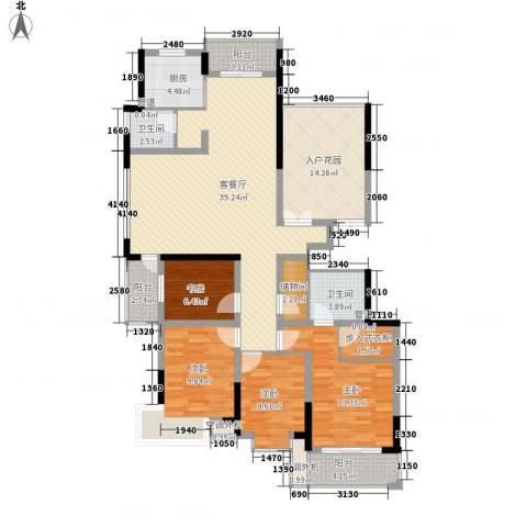 碧水华庭4室1厅2卫1厨170.00㎡户型图