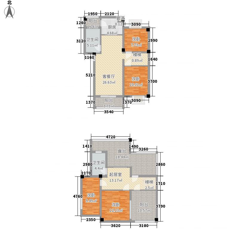 金丰御园3.00㎡一期BF户型4室3厅2卫1厨