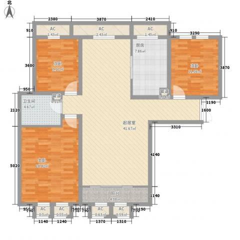天鹅湖小镇东区3室0厅1卫1厨122.00㎡户型图
