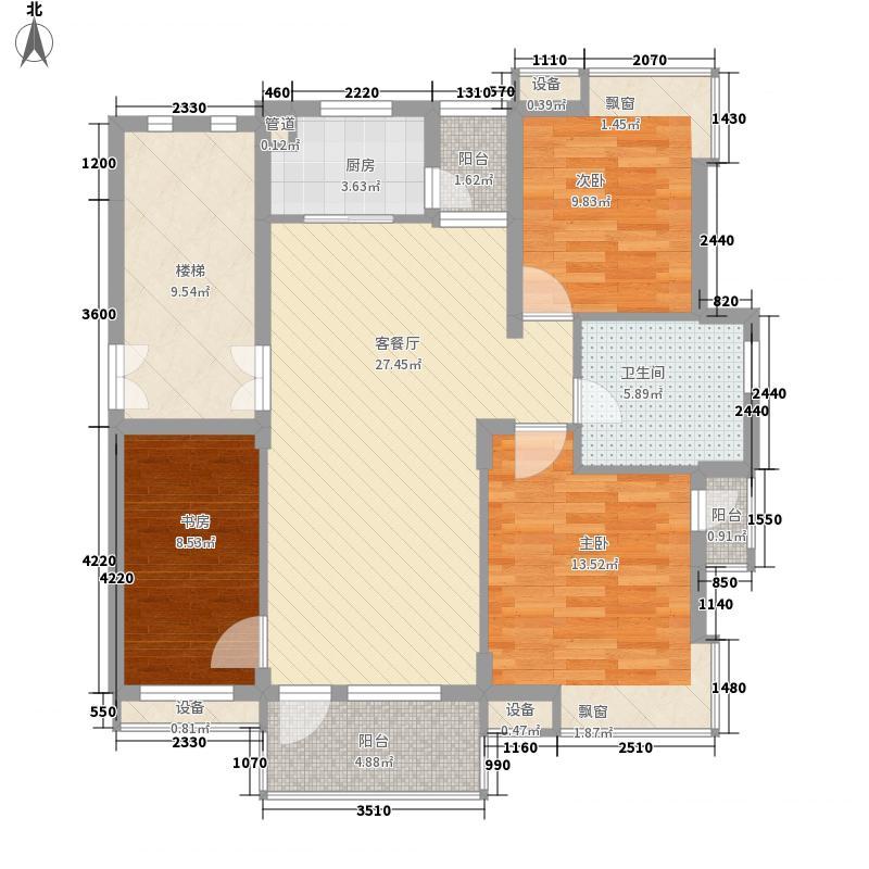 亲亲家园111.00㎡户型3室2厅1卫
