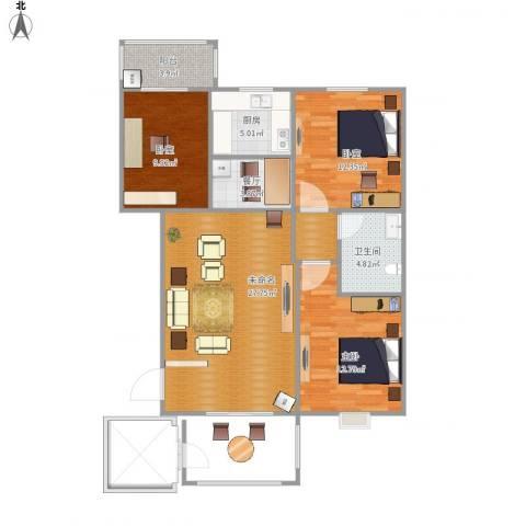 阳光小区1室1厅1卫1厨87.00㎡户型图