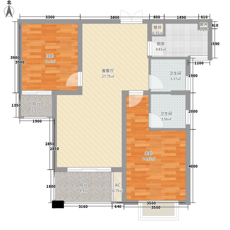 名流印象105.91㎡名流印象户型图2#楼超高层2-2-G户型2室2厅2卫1厨户型2室2厅2卫1厨