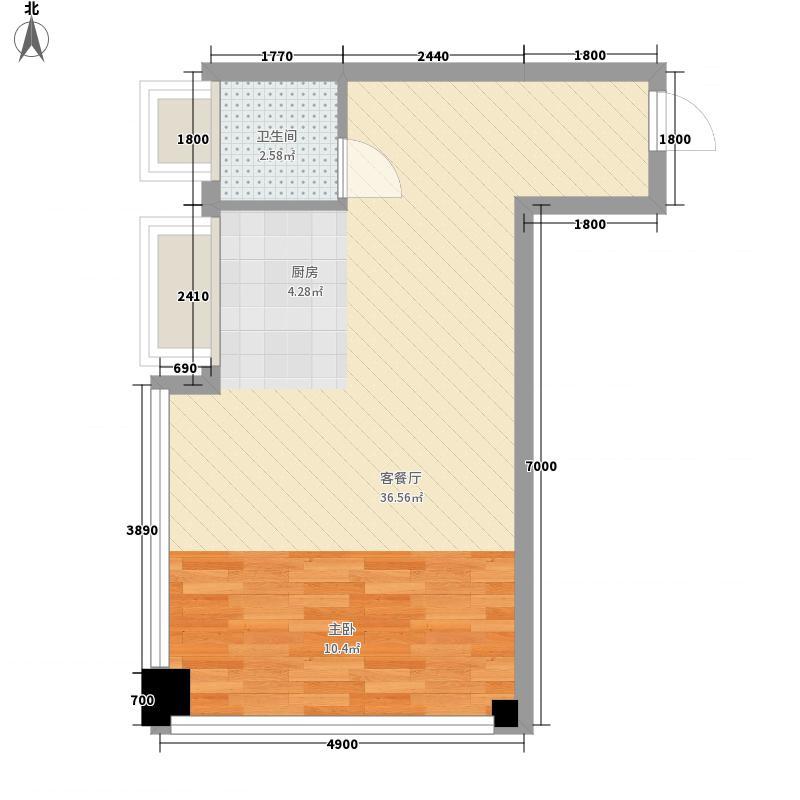 智慧城淘公寓1、2、3、4、5号楼的A居家户型