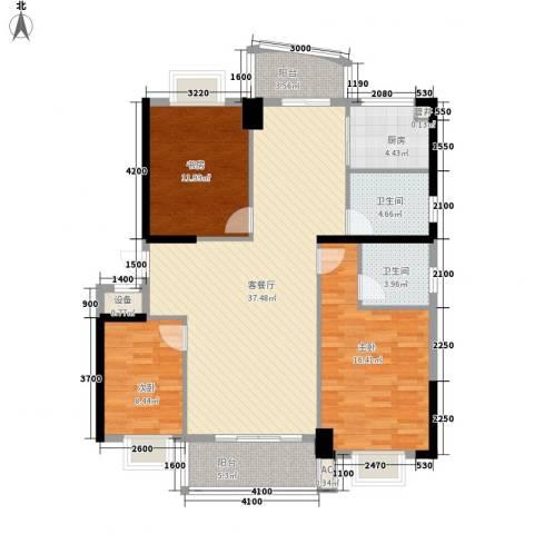 怡和园3室1厅2卫1厨138.00㎡户型图